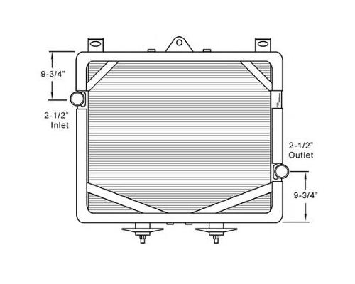 KENWORTH T2000 RADIATOR ASSEMBLY