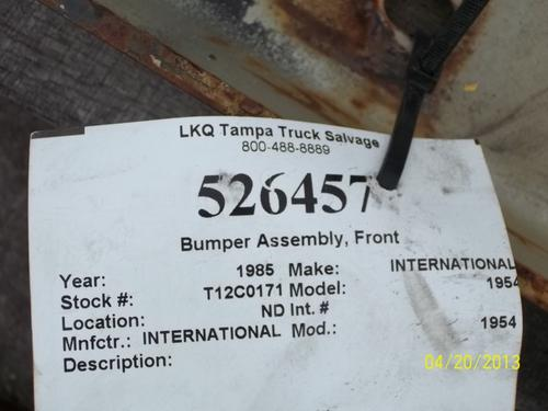 INTERNATIONAL 1954 Bumper Assembly, Front