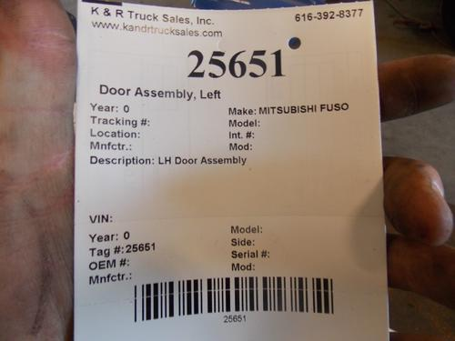 MITSUBISHI FUSO FE Door Assembly, Rear or Back