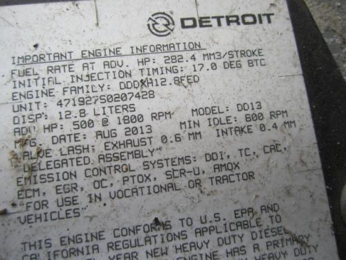 DETROIT DD13 EPA 13 Engine Assembly