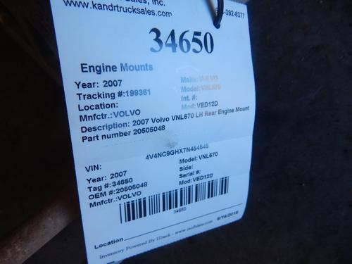 VOLVO VED12D Engine Mounts