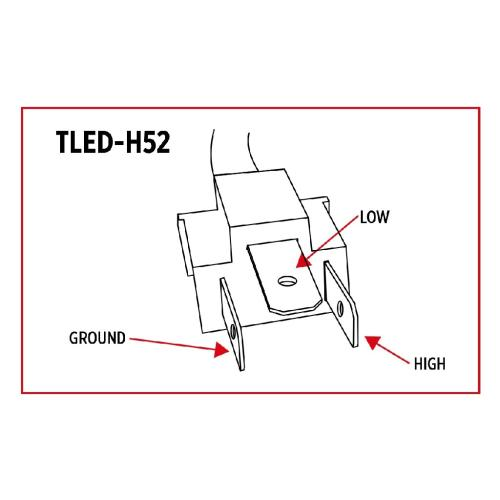 TRUX ACCESSORIES TLED-H52 Headlamp Assembly