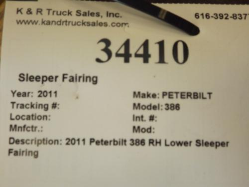 PETERBILT 386 Sleeper Fairing