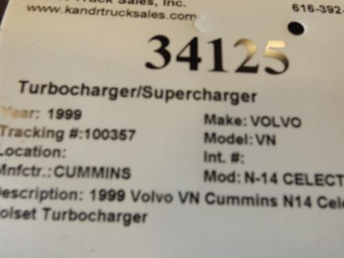CUMMINS N-14 CELECT+ Turbocharger / Supercharger