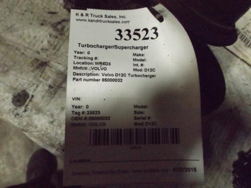 VOLVO D12C Turbocharger / Supercharger