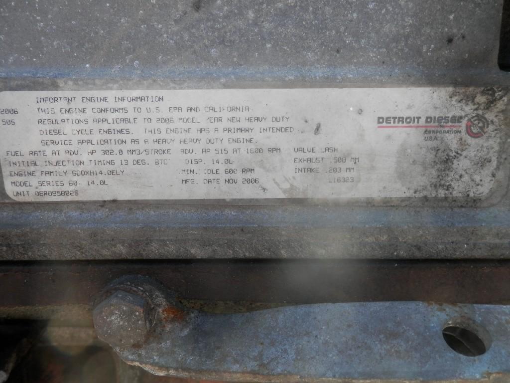 2007 DETROIT 60 SER 14.0 ENGINE ASSEMBLY TRUCK PARTS #585193