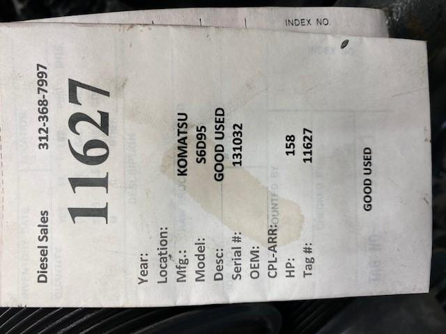 2005 KOMATSU S6D95 ENGINE ASSEMBLY TRUCK PARTS #731396