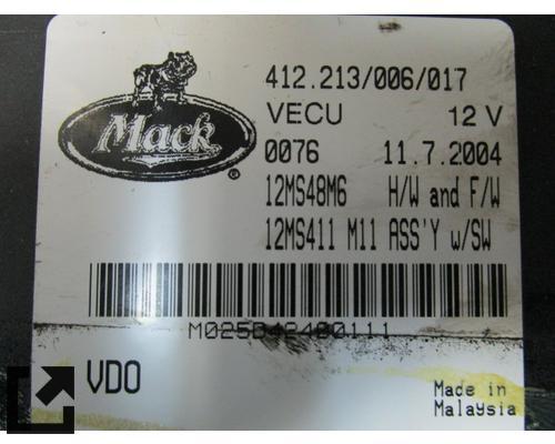MACK LE613 ECM (ABS UNIT AND COMPONENTS)