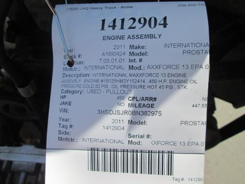 INTERNATIONAL MAXXFORCE 13 EPA 07 Engine Assembly