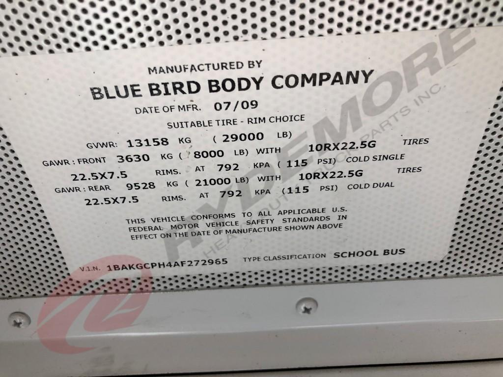 USED 2010 BLUE BIRD BB CONVENTIONAL OTHER TRUCK #641328