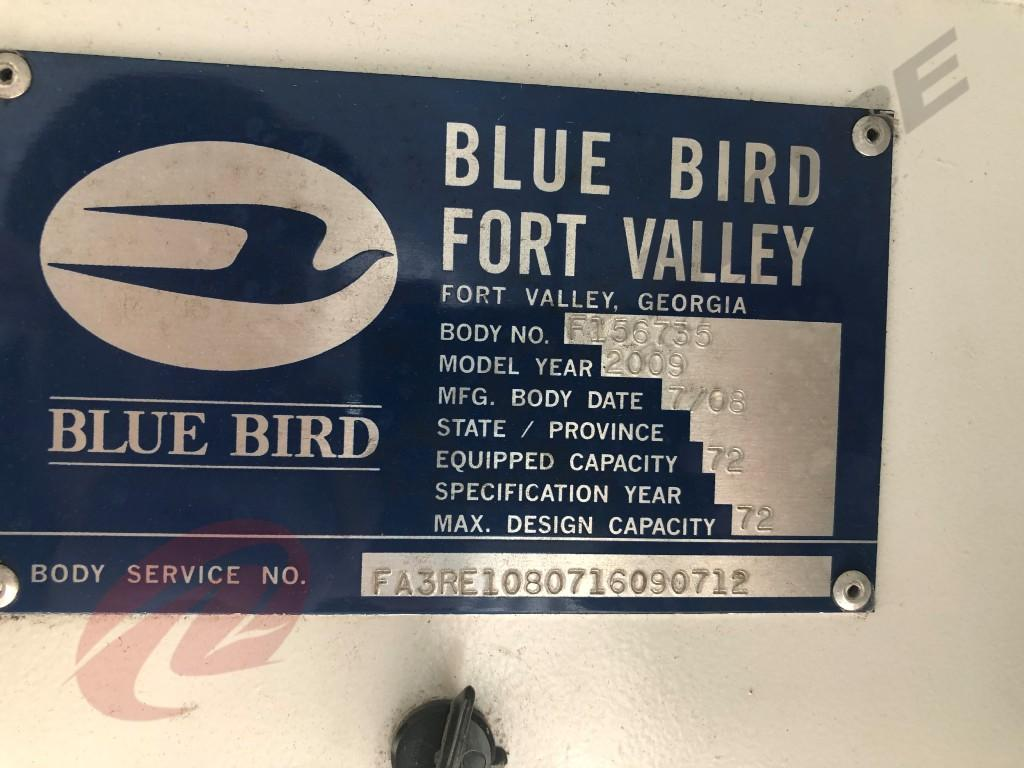 USED 2009 BLUE BIRD ALL AMERICAN/ALL CANADIAN OTHER TRUCK #646453