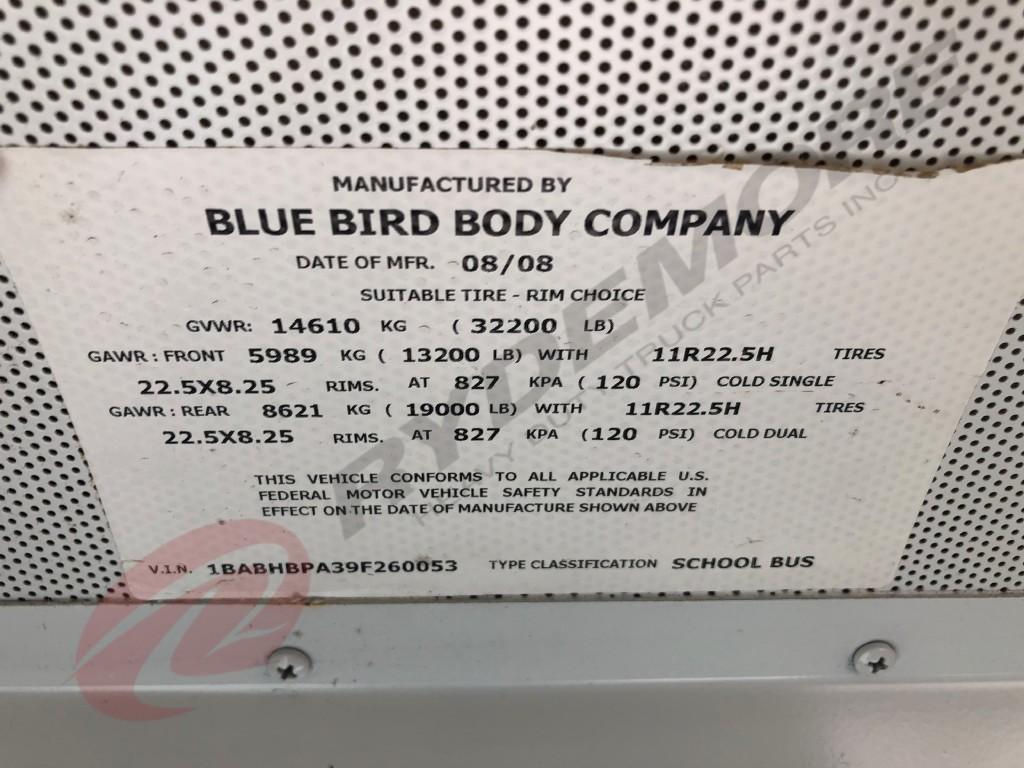 USED 2009 BLUE BIRD ALL AMERICAN/ALL CANADIAN OTHER TRUCK #649475
