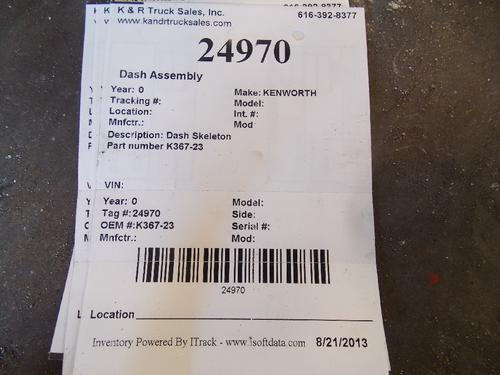 KENWORTH  Dash Assembly