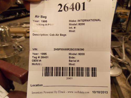 INTERNATIONAL 9200 Air Bag (Safety)