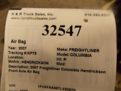 FREIGHTLINER COLUMBIA Air Bag (Safety)