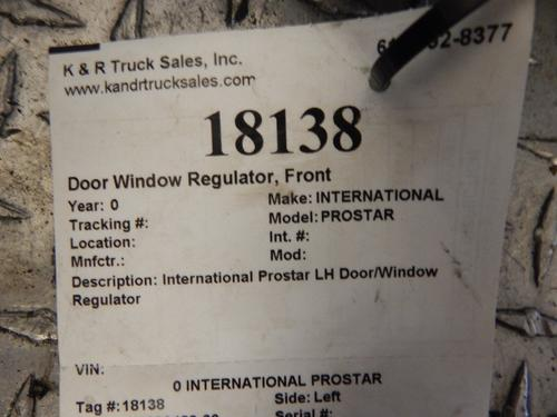 INTERNATIONAL PROSTAR Door Window Regulator, Front