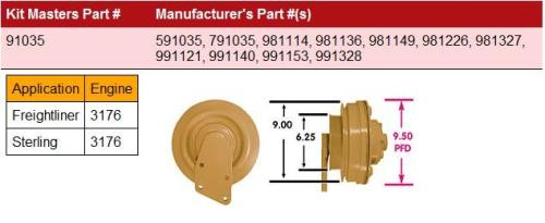 CAT 3176-HortonHTS_791035 Fan Clutch