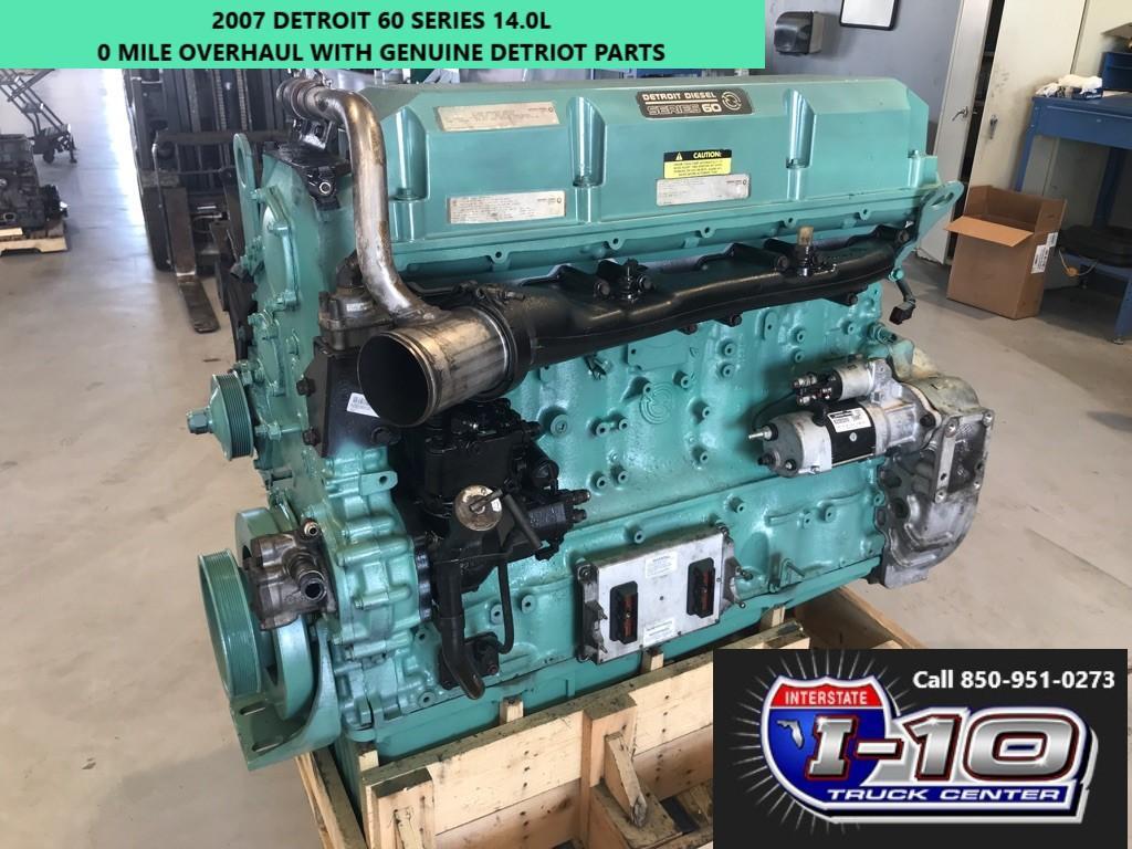 USED 2007 DETROIT SERIES 60 14.0 DDEC V ENGINE ASSEMBLY PART #5003