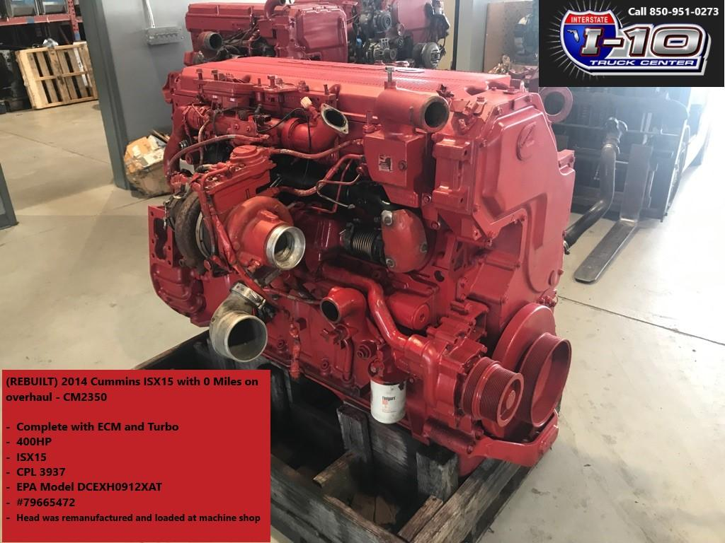 USED 2014 CUMMINS ISX15 ENGINE ASSEMBLY PART #6656