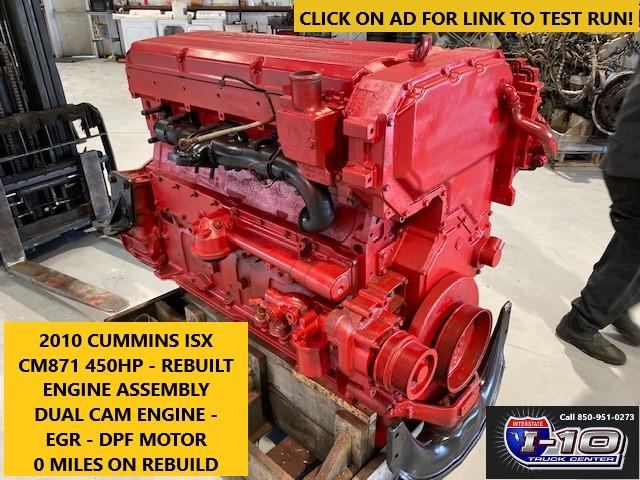 USED 2010 CUMMINS ISX ENGINE ASSEMBLY PART #8533