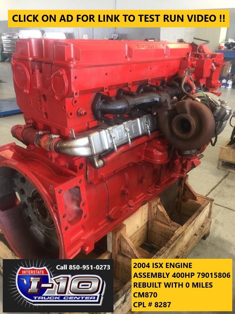 USED 2004 CUMMINS ISX ENGINE ASSEMBLY PART #8550