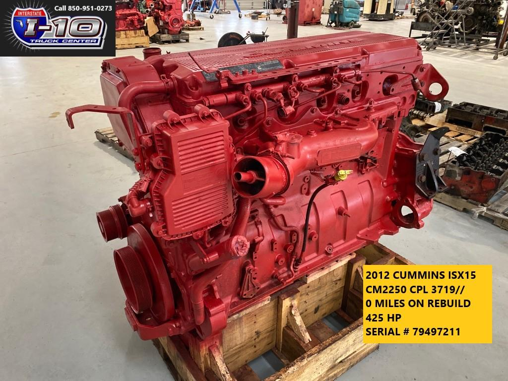 USED 2012 CUMMINS ISX15 ENGINE ASSEMBLY PART #7152