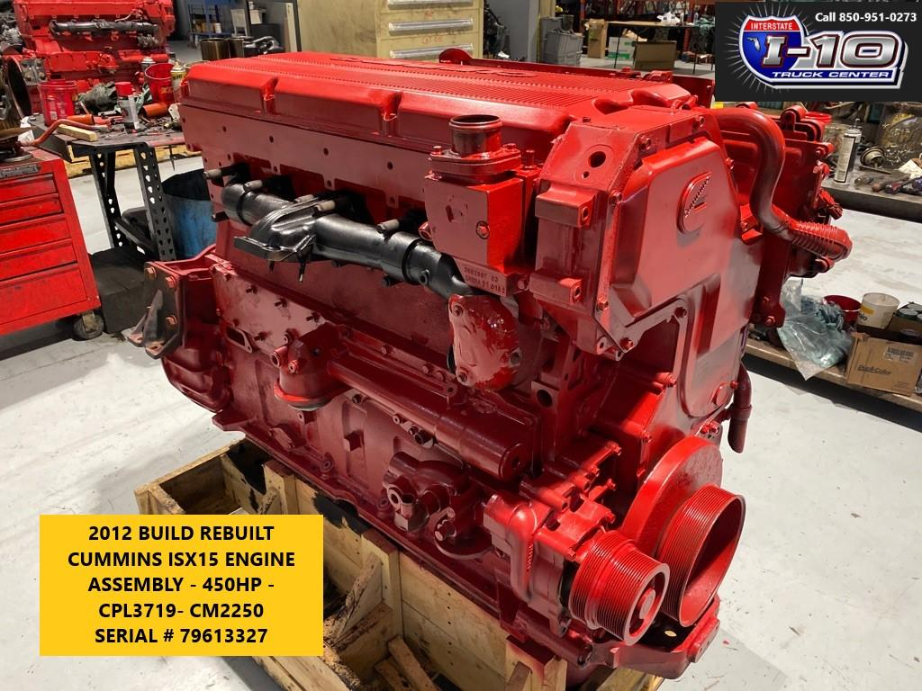 USED 2012 CUMMINS ISX15 ENGINE ASSEMBLY PART #7264