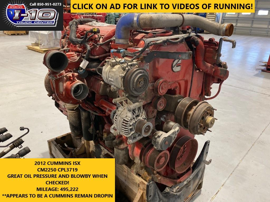 USED 2012 CUMMINS ISX15 ENGINE ASSEMBLY PART #8521