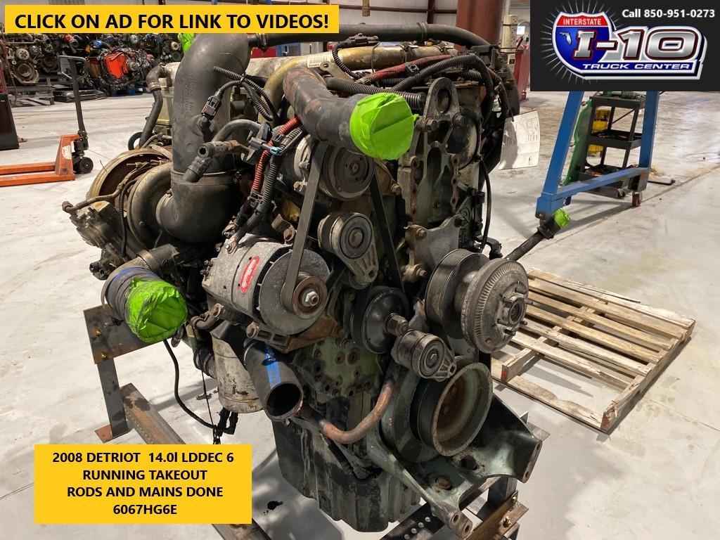 USED 2008 DETROIT SERIES 60 14.0 DDEC VI ENGINE ASSEMBLY PART #8528