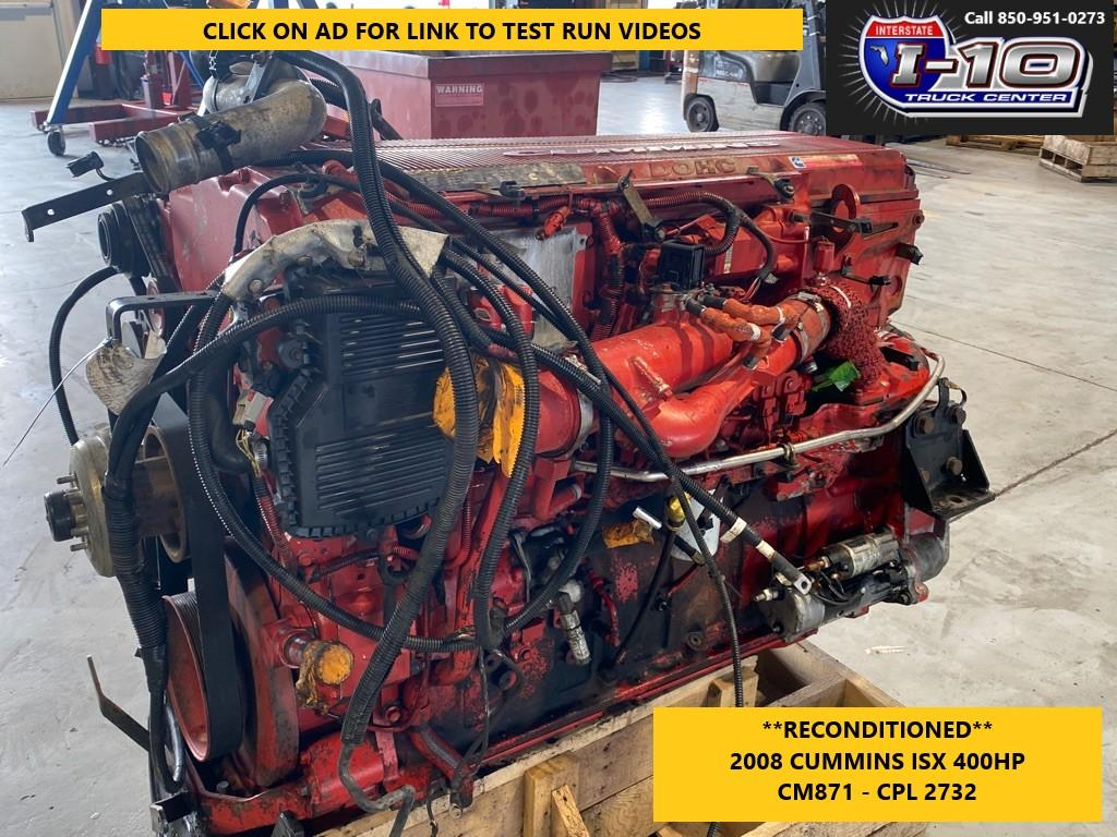 USED 2008 CUMMINS ISX ENGINE ASSEMBLY PART #8532