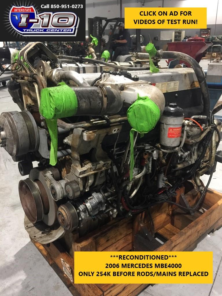 USED 2006 MERCEDES MBE4000 ENGINE ASSEMBLY PART #8518