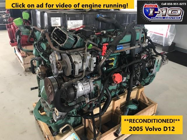 USED 2005 VOLVO VED12 ENGINE ASSEMBLY PART #8525
