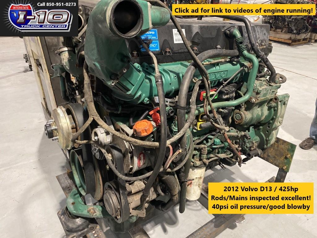 USED 2012 VOLVO VED13 ENGINE ASSEMBLY PART #8523