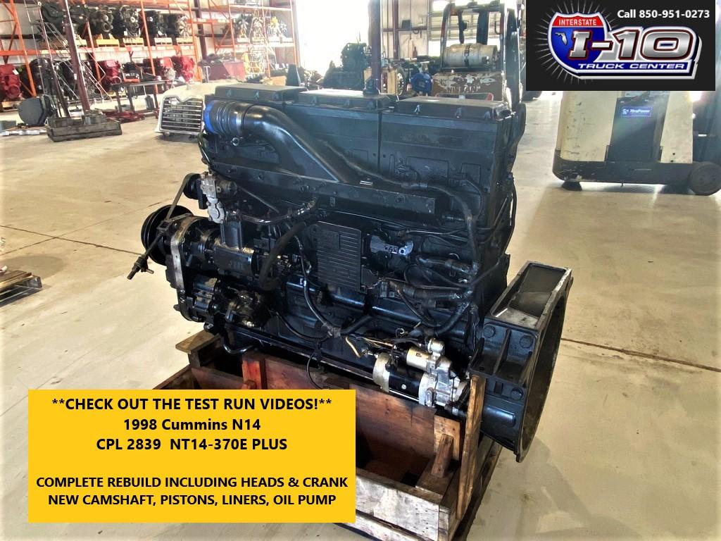 USED 1999 CUMMINS N14 CELECT+ ENGINE ASSEMBLY PART #8492