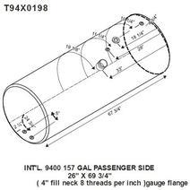 Fuel Tank INTERNATIONAL 9400 LKQ Plunks Truck Parts And Equipment - Jackson
