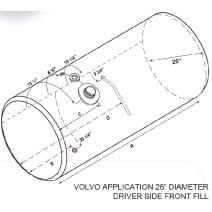 Fuel Tank VOLVO VNL 2003-OLDER LKQ Heavy Duty Core